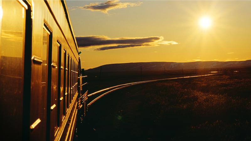 Фото из окна поезда