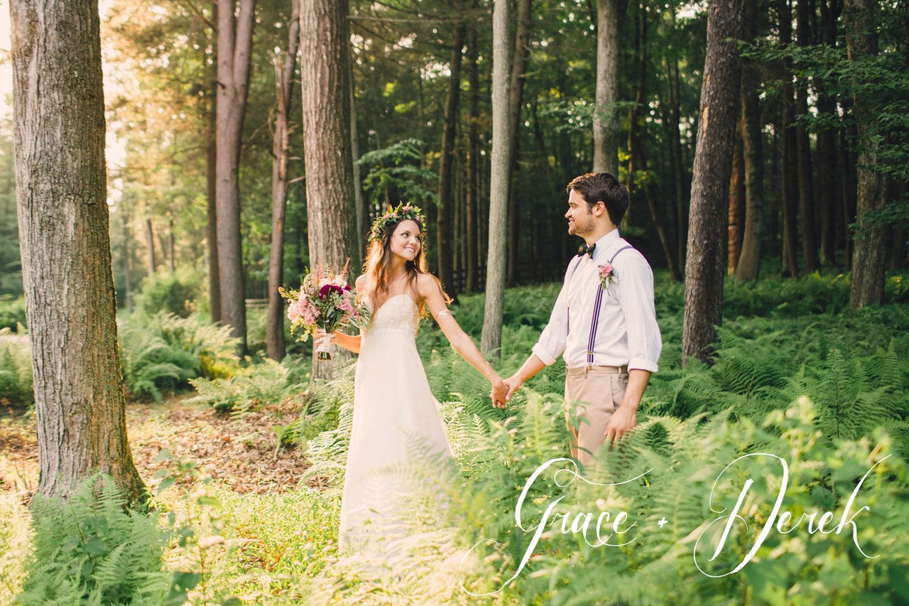 Forest lake wedding